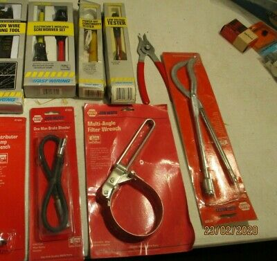 Auto-Truck--Tool-Lot Of 9--New--Napa--Calterm--Brake-Test-Wrench-Snap Ring-Dist.
