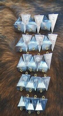 2oz and 3oz weights Coin 12 of each 1oz Lot of 36 River Fishing sinkers
