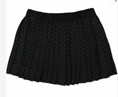 Bonpoint Pleated Girls Black Polka Dot Spots Wool Skirt age 7-8 Years BNWT