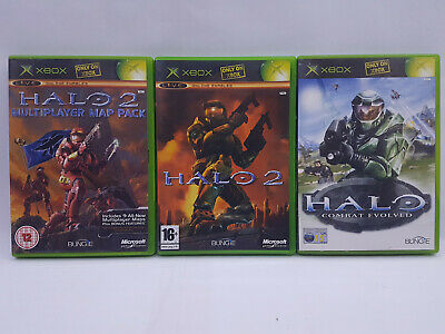 Halo Combat Evolved, Halo 2, Halo 2 Multi Player Map Pack - Xbox Games