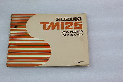 Suzuki New Old Stock Owners Manual Tm125 1974
