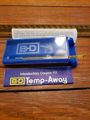 ORAL temperature THERMOMETER (glass) w/ CASE,  NEW,  Immediate ship