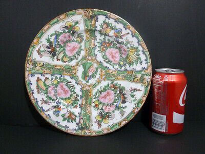 "Antique Chinese Export Porcelain (Famille Rose  ) Mandarin 9 1/2"" Plate 7902"