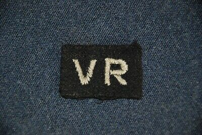 WW2 RAF Other Ranks 'Volunteer Reserve' Sleeve Patch. Used