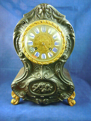 Antique French Mantel Clock With Striking Bell