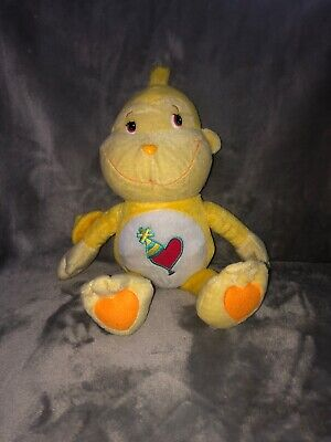 "Care Bears Cousins Plush Playful Heart Monkey Stuffed Animal 2004 Large 21/"" Doll"