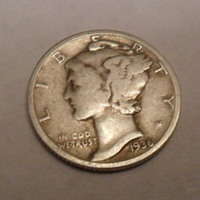 1936 P Mercury Dime   *90% SILVER*   *AG OR BETTER*   *FREE SHIPPING*