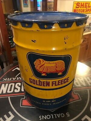 Golden Fleece 45lb Grease Oil Drum Tin