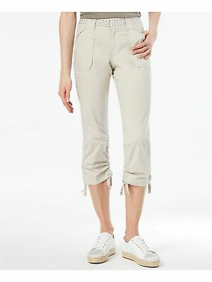INC $90 Womens New 1120 Beige Curvy-fit Studded Casual Pants 0 B+B