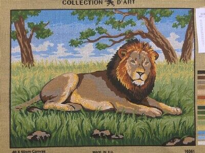 Tapestry - Printed Canvas - Lion - Made in EU - Collection D'Art