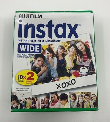 Fujifilm instax Wide Instant Film 20 Exposures White - New, But Open Box 05/2019