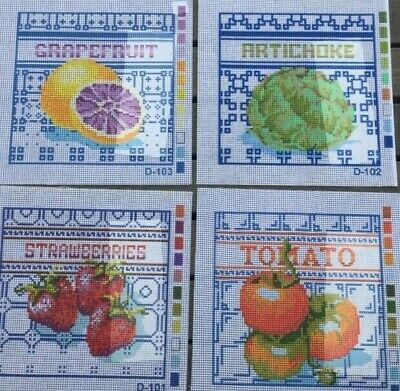 Tapestries x 4 - Printed Canvases - Fruit - Coats Patons