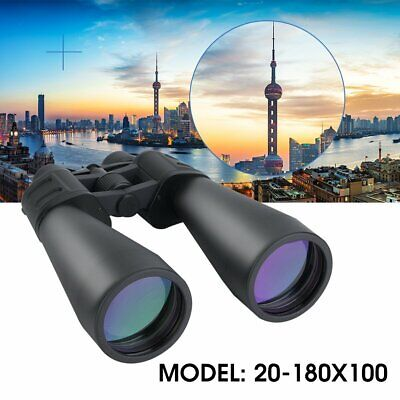 180x100 Zoom Day/Night Vision Outdoor HD Binoculars Hunting Telescope + Case US