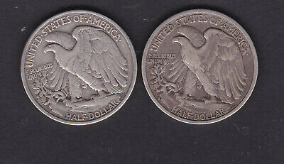 USA, 1935s and 1937 silver half dollar coins