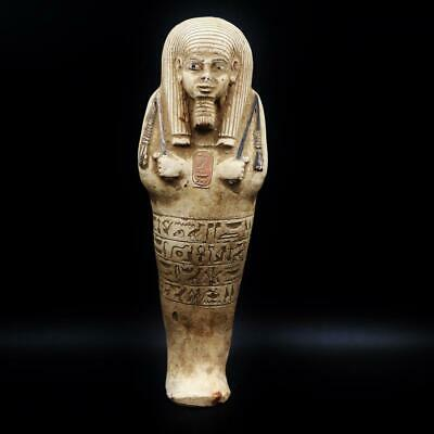 XXL_RARE Antique Egyptian Faience Ushabti (Shabti) Statue Figure..ANCIENT EGYPT