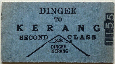 VR Ticket - DINGEE to KERANG - 2nd Class Single