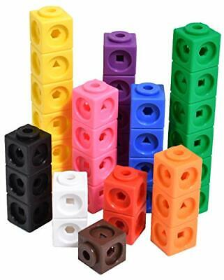 edx education 75166 Math Cubes - Set of 100 - Linking Cubes for Early Maths -