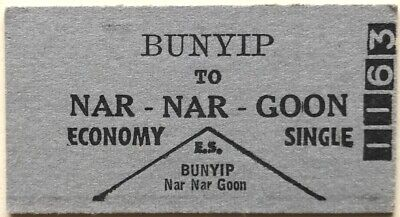 VR Ticket - BUNYIP to NAR-NAR-GOON - Economy Single