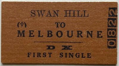 VR Ticket - SWAN HILL to MELBOURNE - DX First Single