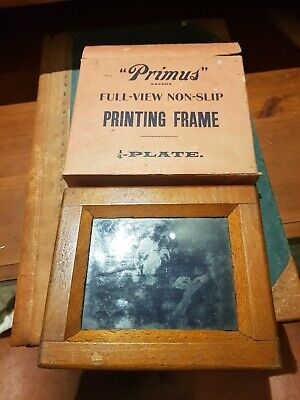 Vintage Antique Photographic Printing Frame In Original Box. Early 1900'S Primus