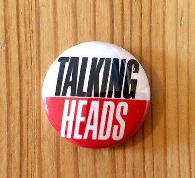 TALKING HEADS - BUTTON PIN BADGE (25mm)