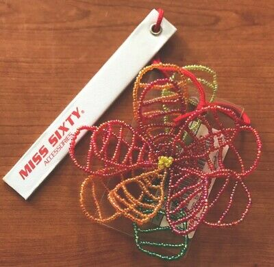 Miss Sixty Beaded Broach Brand New With Tags