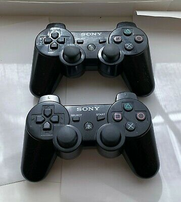 2x Official Sony PS3 DualShock + SixAxis Wireless Controllers / Playstation 3