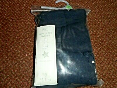 5 Pack Girls Supersoft Cotton Rich dark navy  school Tights 3-4 years