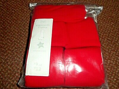 5 Pack Girls Supersoft Cotton Rich red school Tights 9-10 years - bnwt