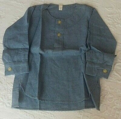 Adorable Shirt - Black Silver Flannel Blue Vintage Size 2 Years