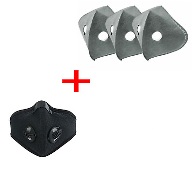 1 Black - Dustproof COVER FOR FACE Bike Pollution Breathable Smog Dirt