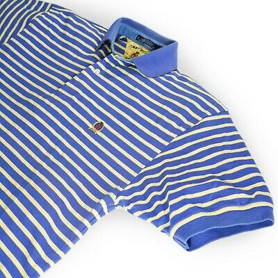 Vintage Tommy Hilfiger Men's Size Small Short Sleeve Polo Shirt Striped Blue