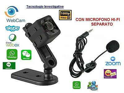 Webcam videochiamate SKYPE ZOOM HOUSEPARTY MINICAM1080P SPEDIZIONE IMMEDIATA