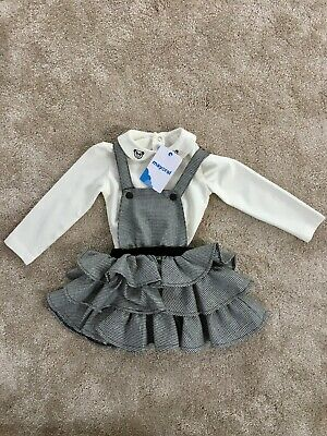 Mayoral Girls 2 Piece Pinafore and Top Set Age 18m