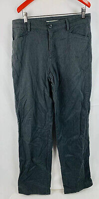 Lee Womens Jean Pants Relaxed Straight Leg Black Size 10 Long Inseam 32""