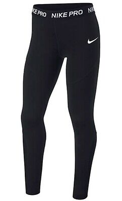 Girls, NIKE PRO Black Leggings XS (Running, Gym, Yoga, Sport, Activewear