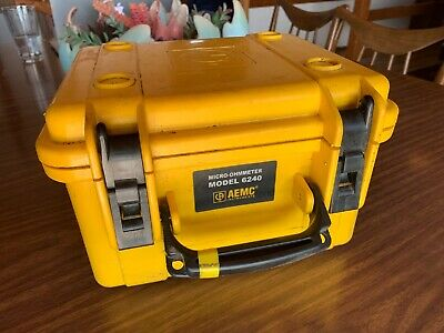 UNTESTED AEMC Unit Only 6240 Micro Ohmmeter Megger Fluke Meter (No Pwr Supply)