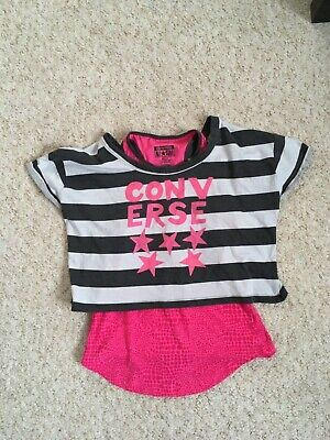 Girls funky double Converse Top Aged 10-12 Years//must see
