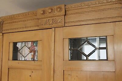 Antique Pine Wardrobe Eastern European
