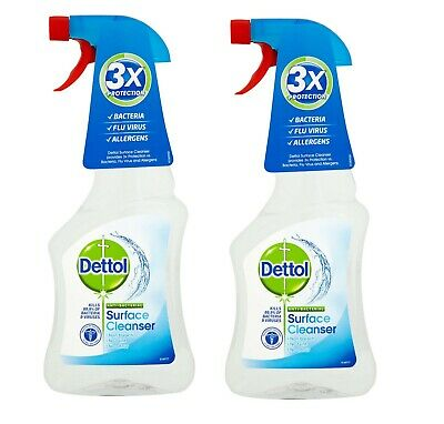 2x Dettol Antibacterial Surface Cleanser Cleaner 500ml Spray Bottle FAST DISPATC