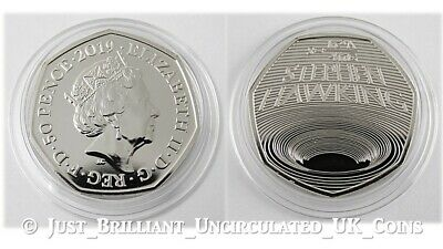 2019 Stephen Hawking Fifty Pence 50p Coin Brilliant Uncirculated BUNC BU UK GB