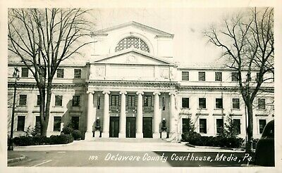MEDIA PENNSYLVANIA PA RPPC Delaware County Courthouse Real Photo Post Card