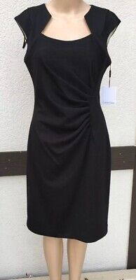 CALVIN KLEIN Size 6 Black Dress Sleeveless Dress