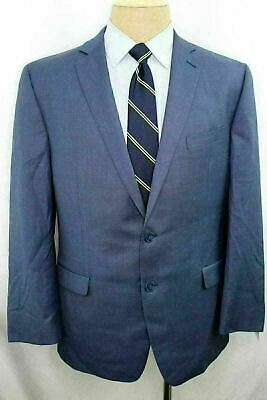 New 44S Calvin Klein Slim Fit Blue Men's Dual Vent Two Button 100% Wool Suit FE0