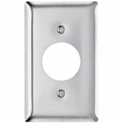"""Pass & Seymour SS7 Power Outlet Wall Plate Stainless Steel Single Gang 1.4"""" Hole"""