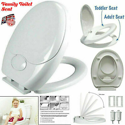 3in1 Soft Close Family Toilet Seat Easy Clean Child Potty Training Quick Release