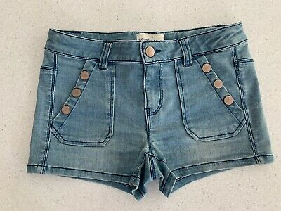 Girls Country Road Denim Look Shorts - Size 12 - Excellent Condition