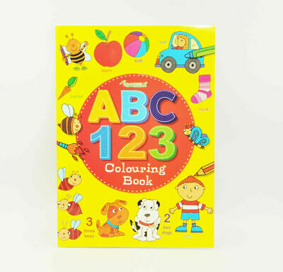 Kids ABC 123 Learning Activity Book Childrens Colouring Learn Letters Numbers