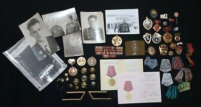 ☭Military Russian German Soviet Medals Badges Ribbons Mounts Photos Buttons USSR