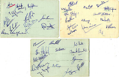 3 X 1950s SIGNED TEAM SHEETS - COVENTRY CITY / BOURNEMOUTH / EXETER CITY